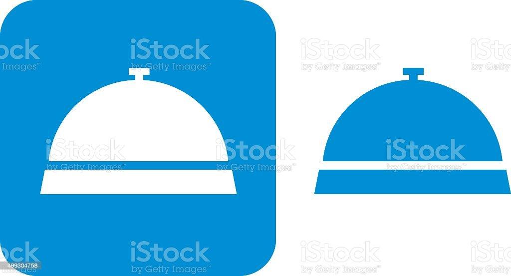 Blue Desk Bell Icon vector art illustration
