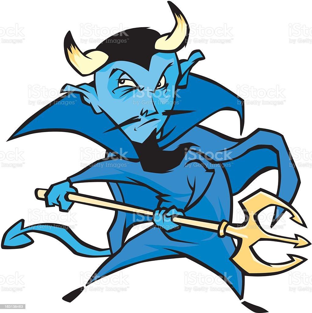 Blue Devil royalty-free stock vector art
