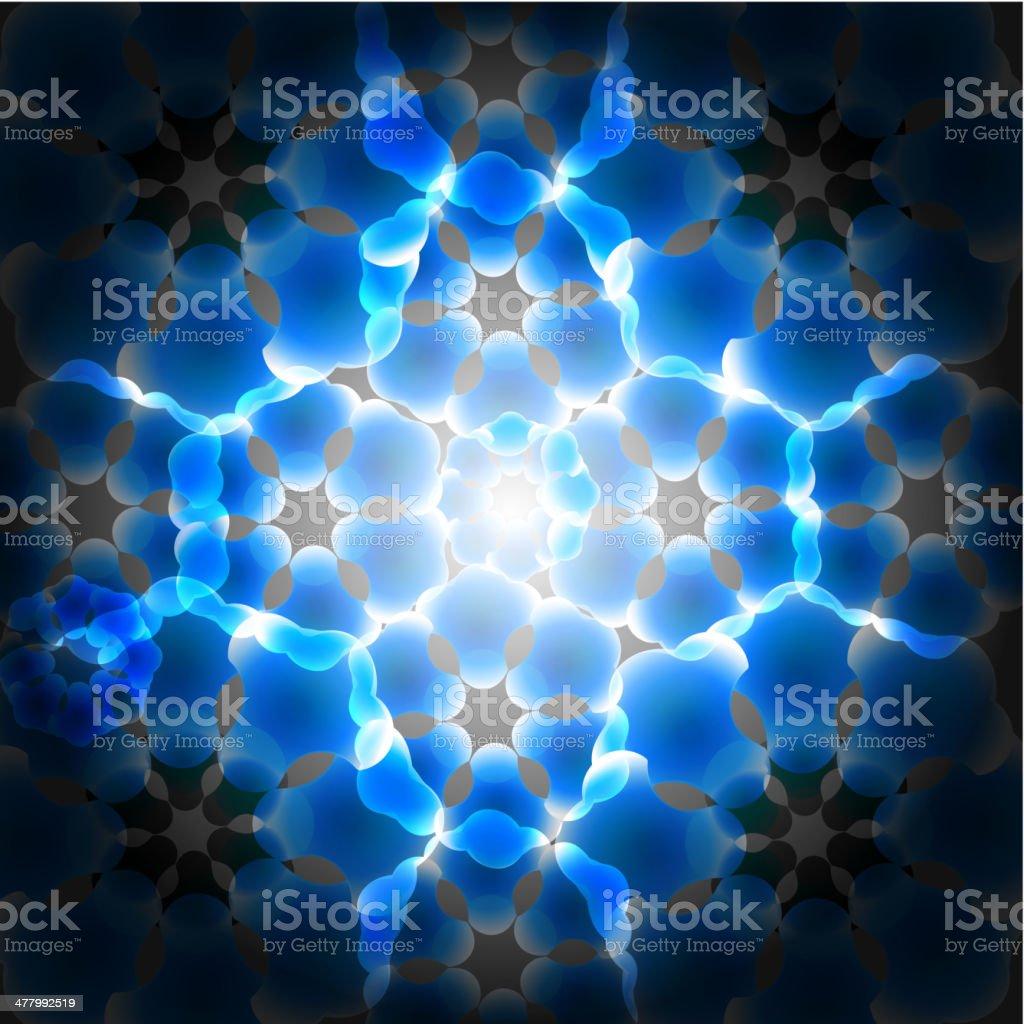 blue digital flower background royalty-free stock vector art