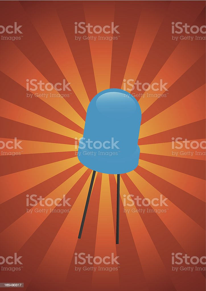 Blue Diode royalty-free stock vector art