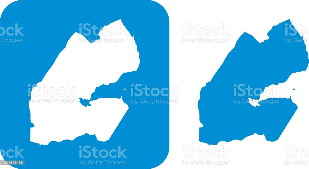 Blue Djibouti Icons vector art illustration
