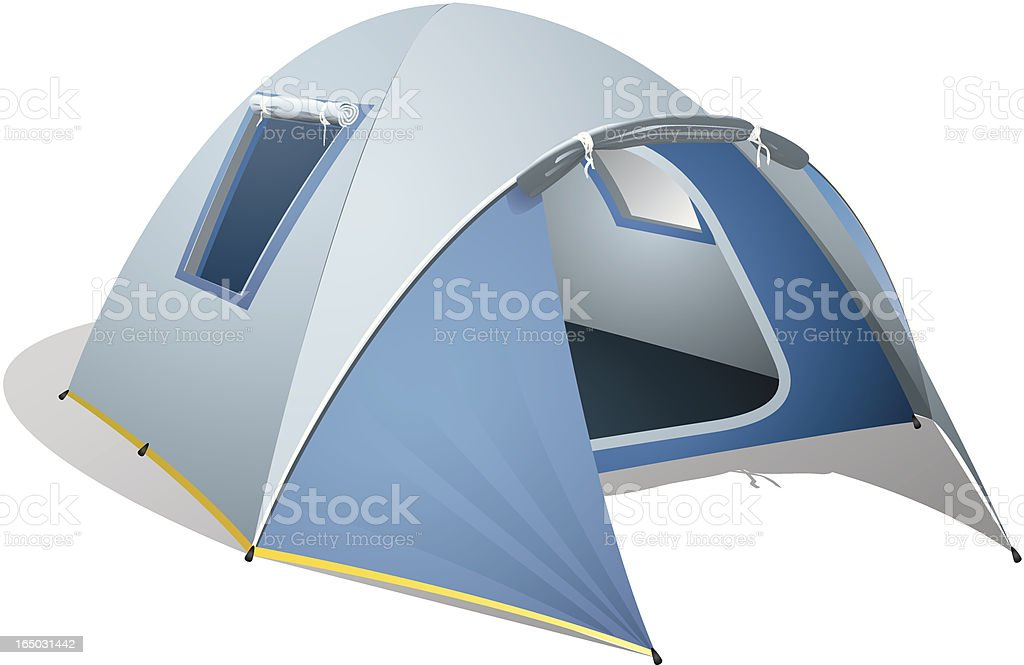 Blue Dome Tent vector art illustration