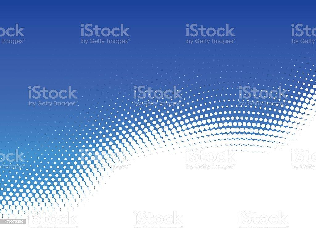 Blue Dot Abstract Halftone Background vector art illustration