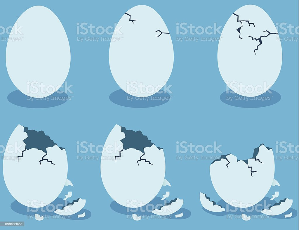 Blue Eggshells vector art illustration