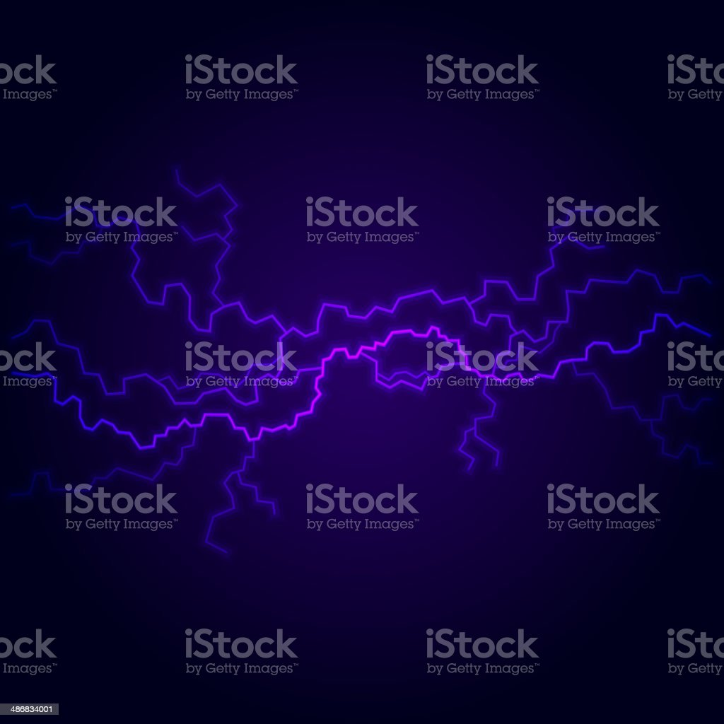 Blue Electric Lighting Effect, Abstract Backgrounds. Vector royalty-free stock vector art