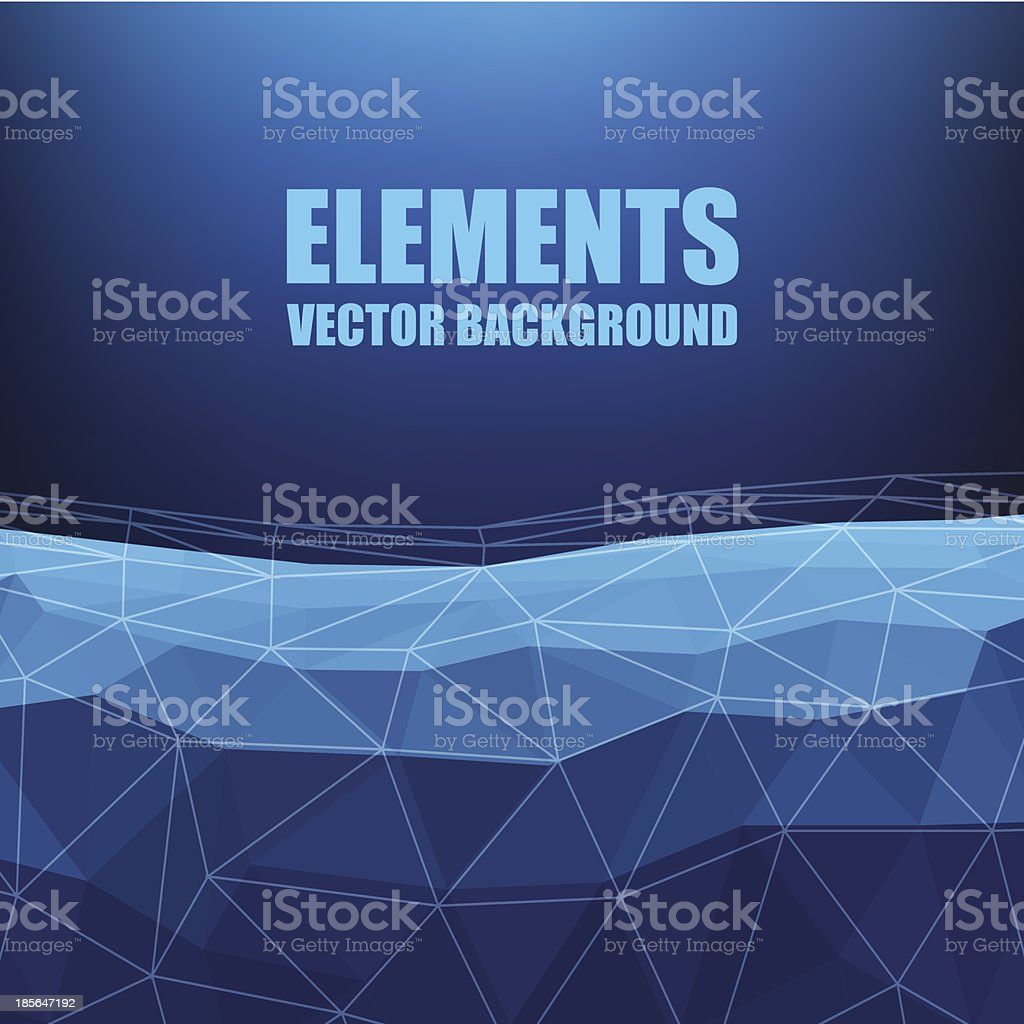 Blue Element Triangle Background royalty-free stock vector art