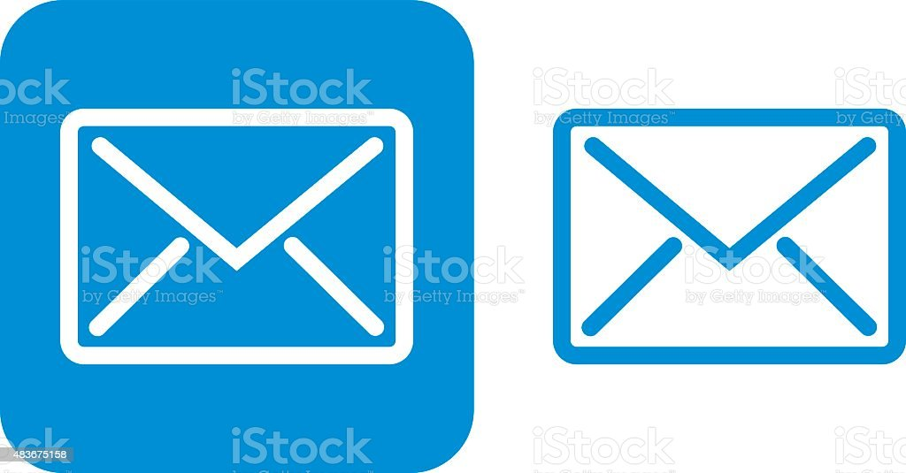 Blue Email Icon vector art illustration