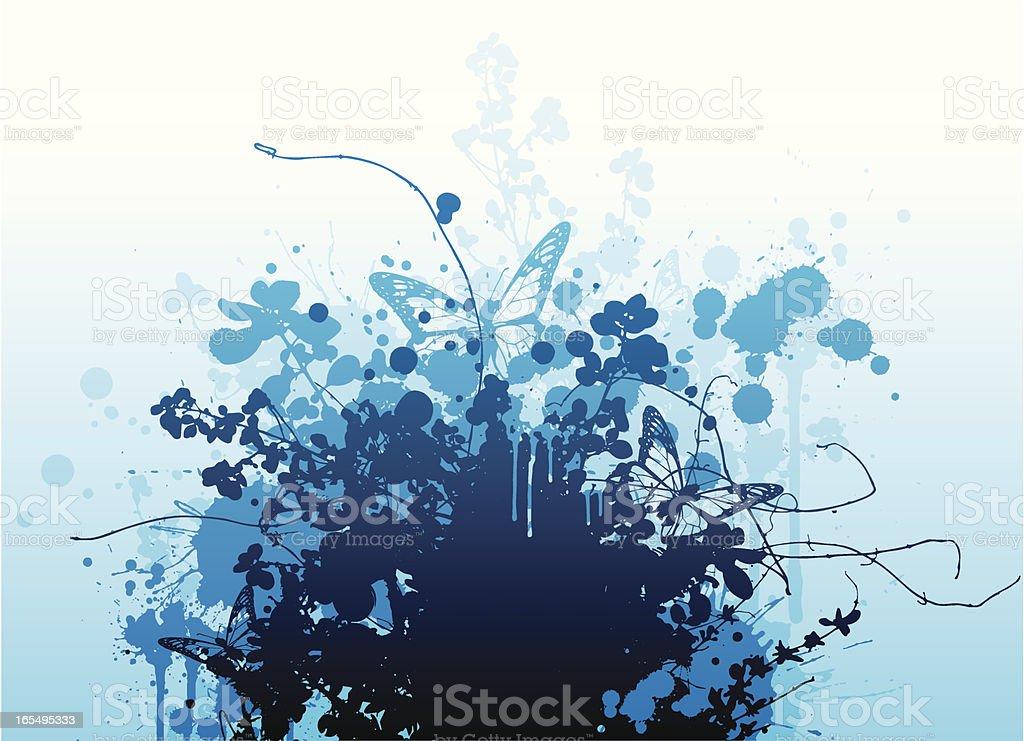 Blue explosion royalty-free stock vector art