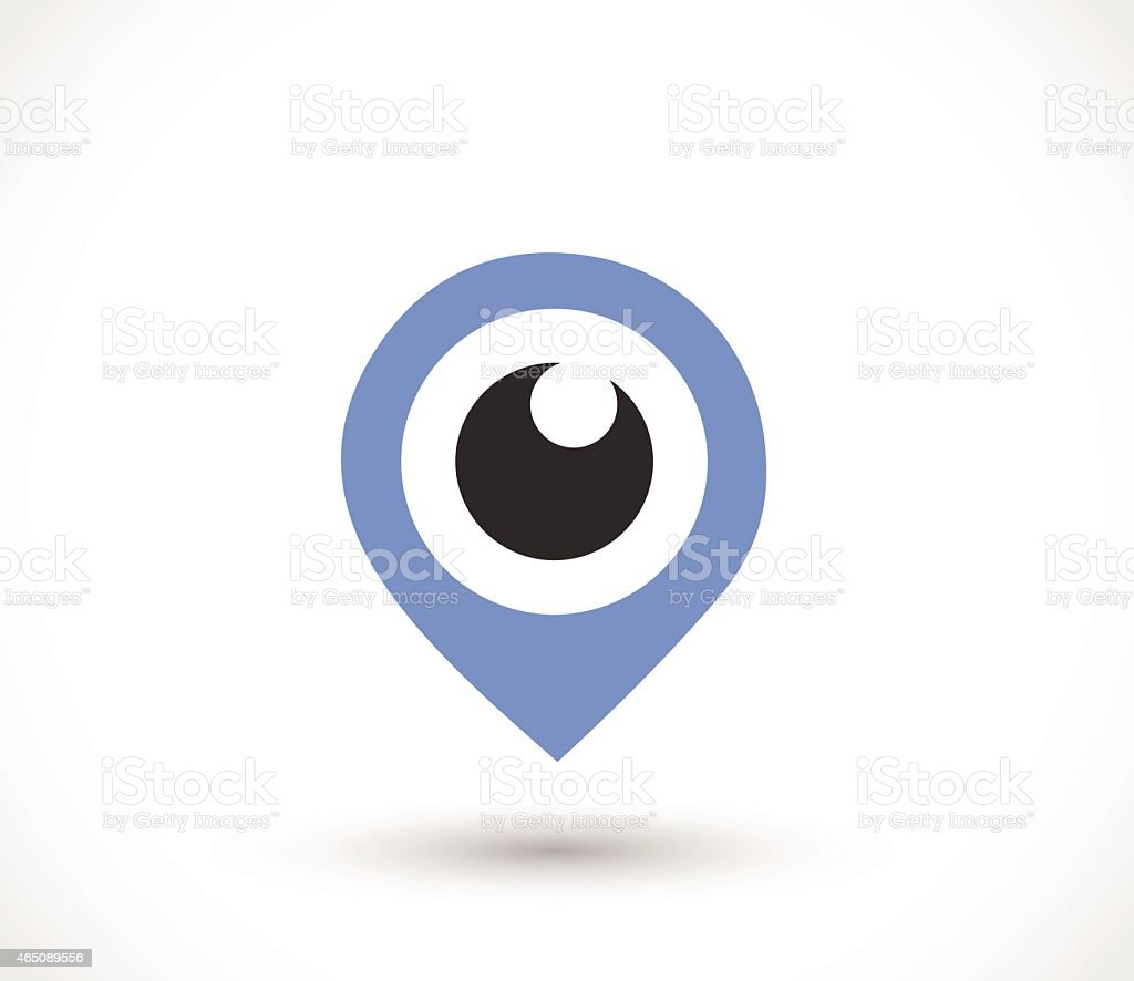 Blue eye pointer icon vector illustration vector art illustration