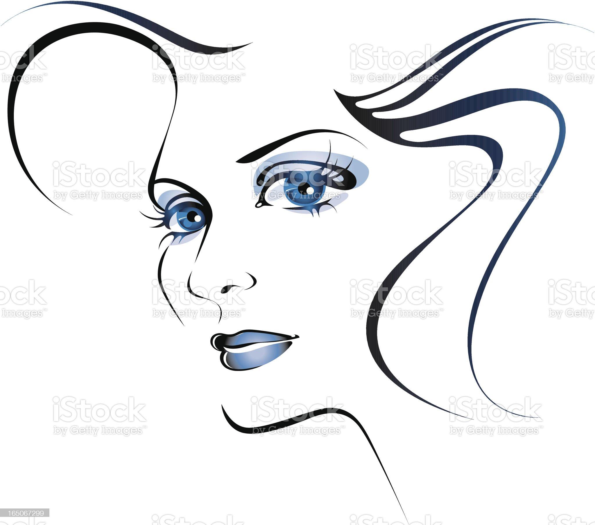Blue eyes. royalty-free stock vector art
