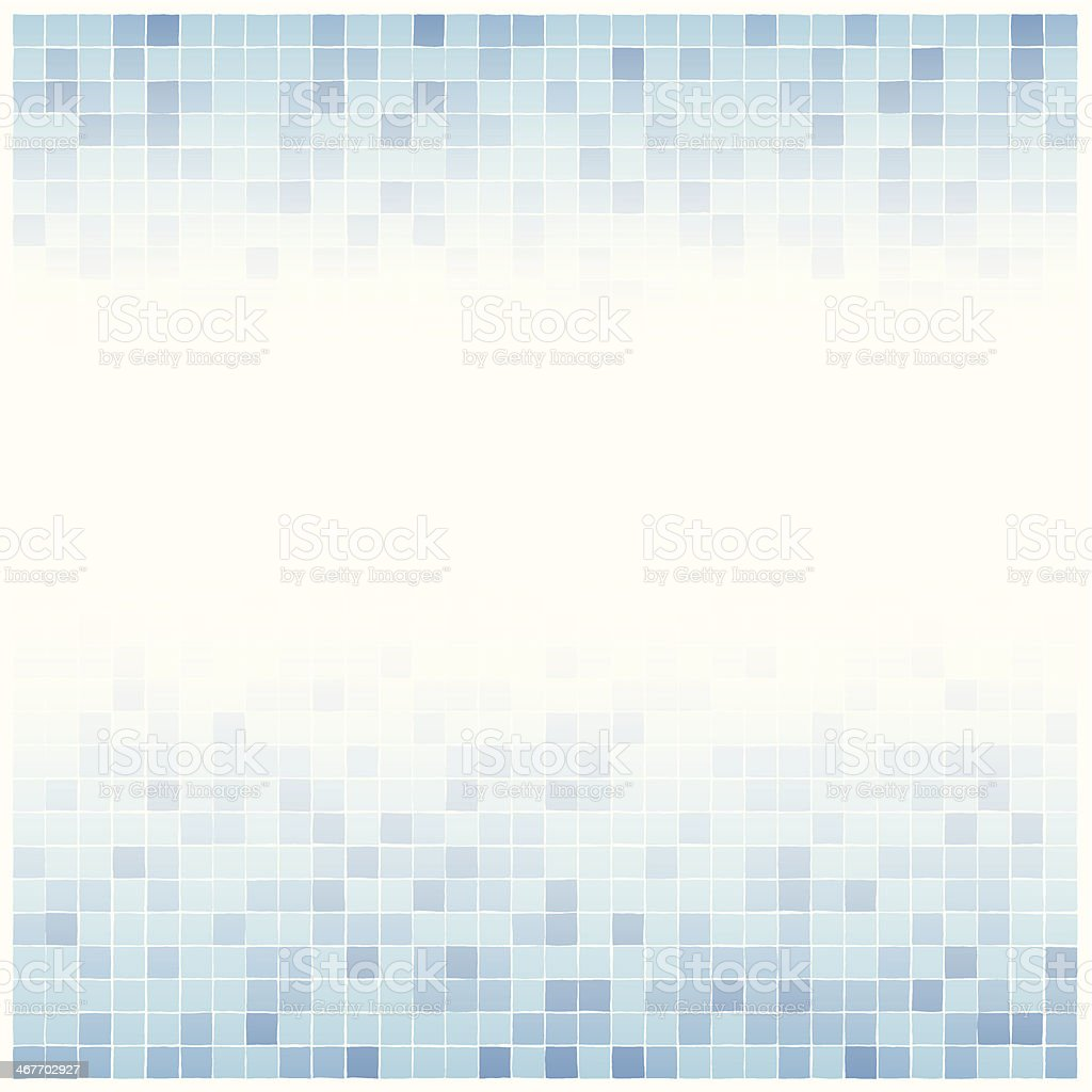 blue faded tile background vector art illustration