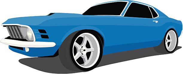 Mustang Car Clip Art, Vector Images & Illustrations - iStock