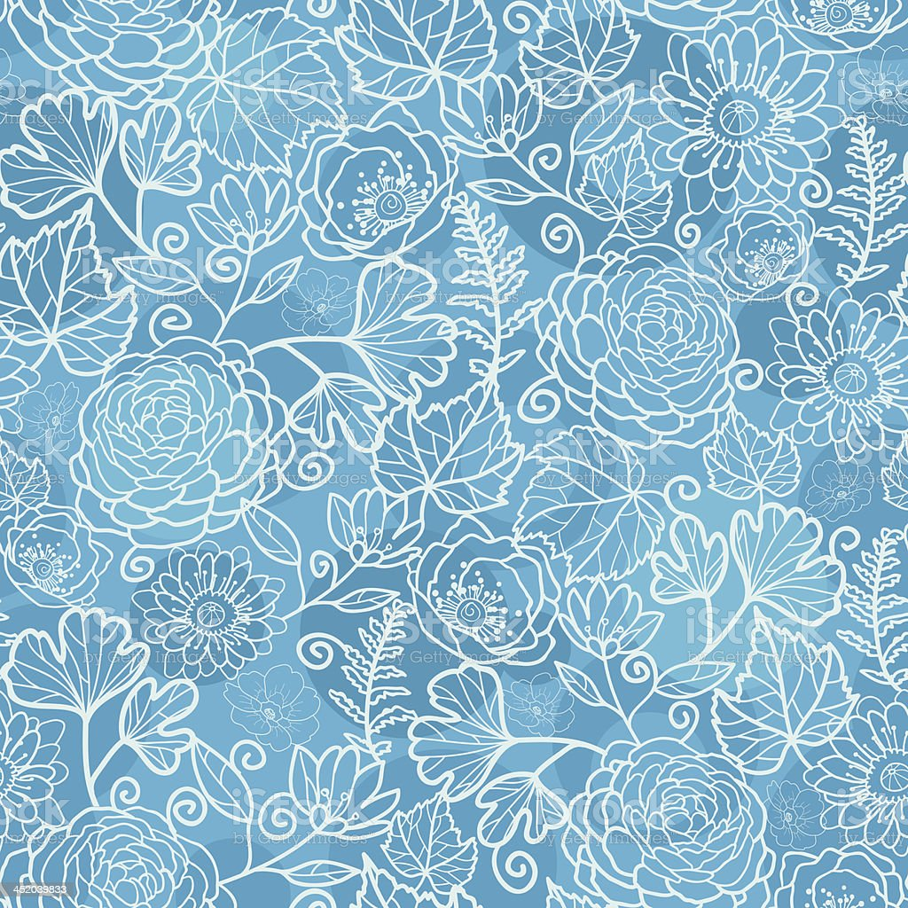 Blue field floral texture seamless pattern background royalty-free stock vector art