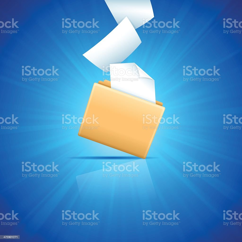 Blue File Folder royalty-free stock vector art