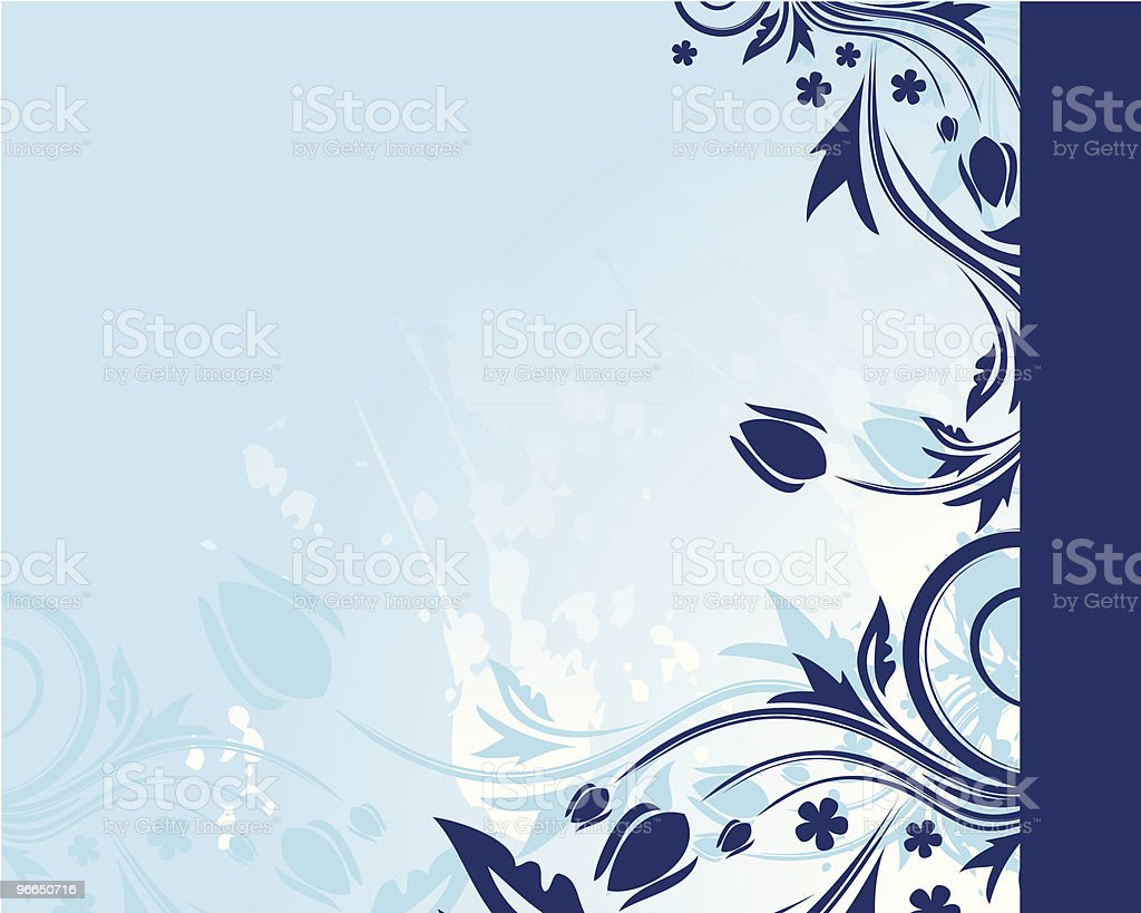 Blue floral background royalty-free stock vector art