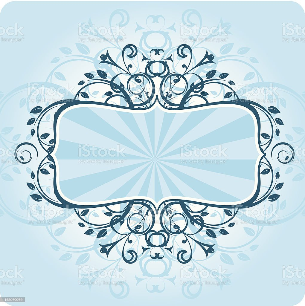 Blue Floral Frame royalty-free stock vector art