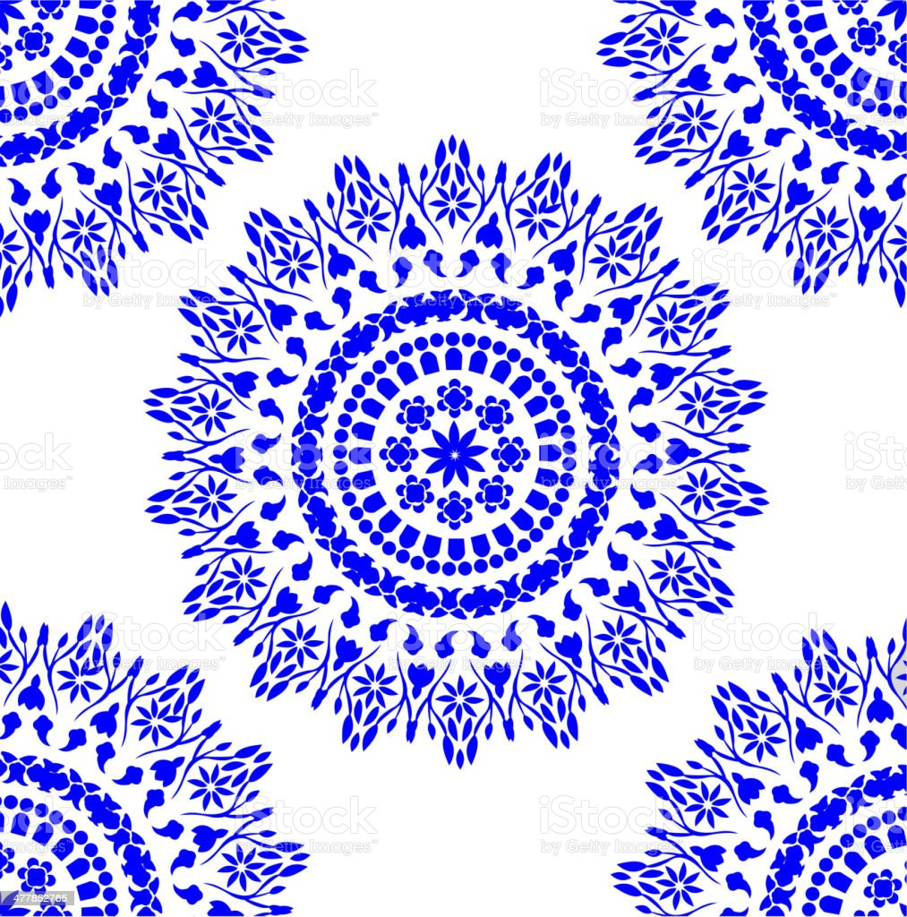 blue floral pattern royalty-free stock vector art