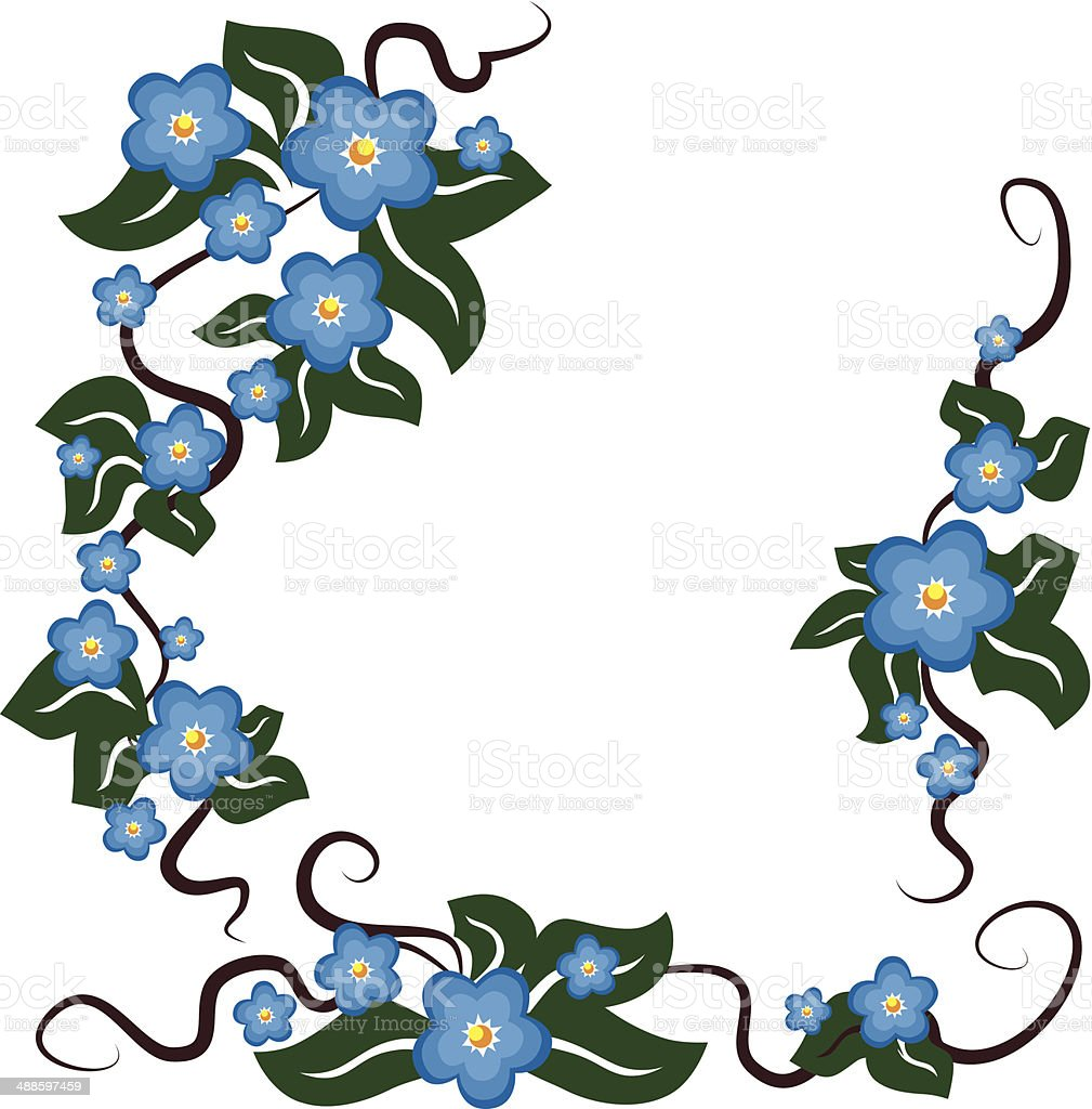 blue flowers background royalty-free stock vector art