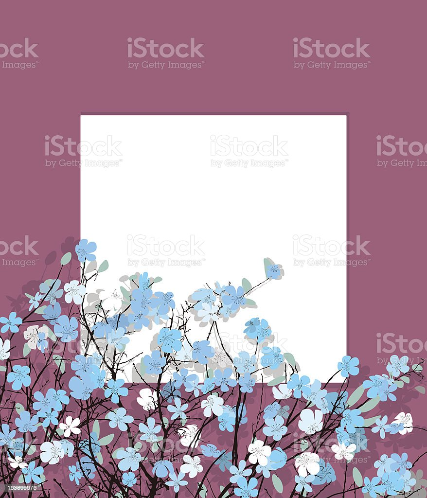 Blue flowers card royalty-free stock vector art