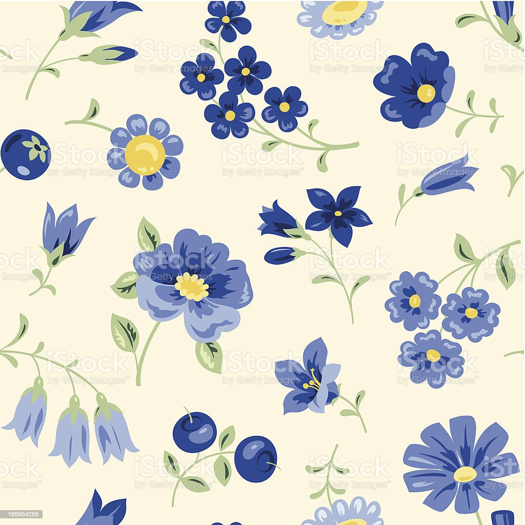 Blue Flowers royalty-free stock vector art