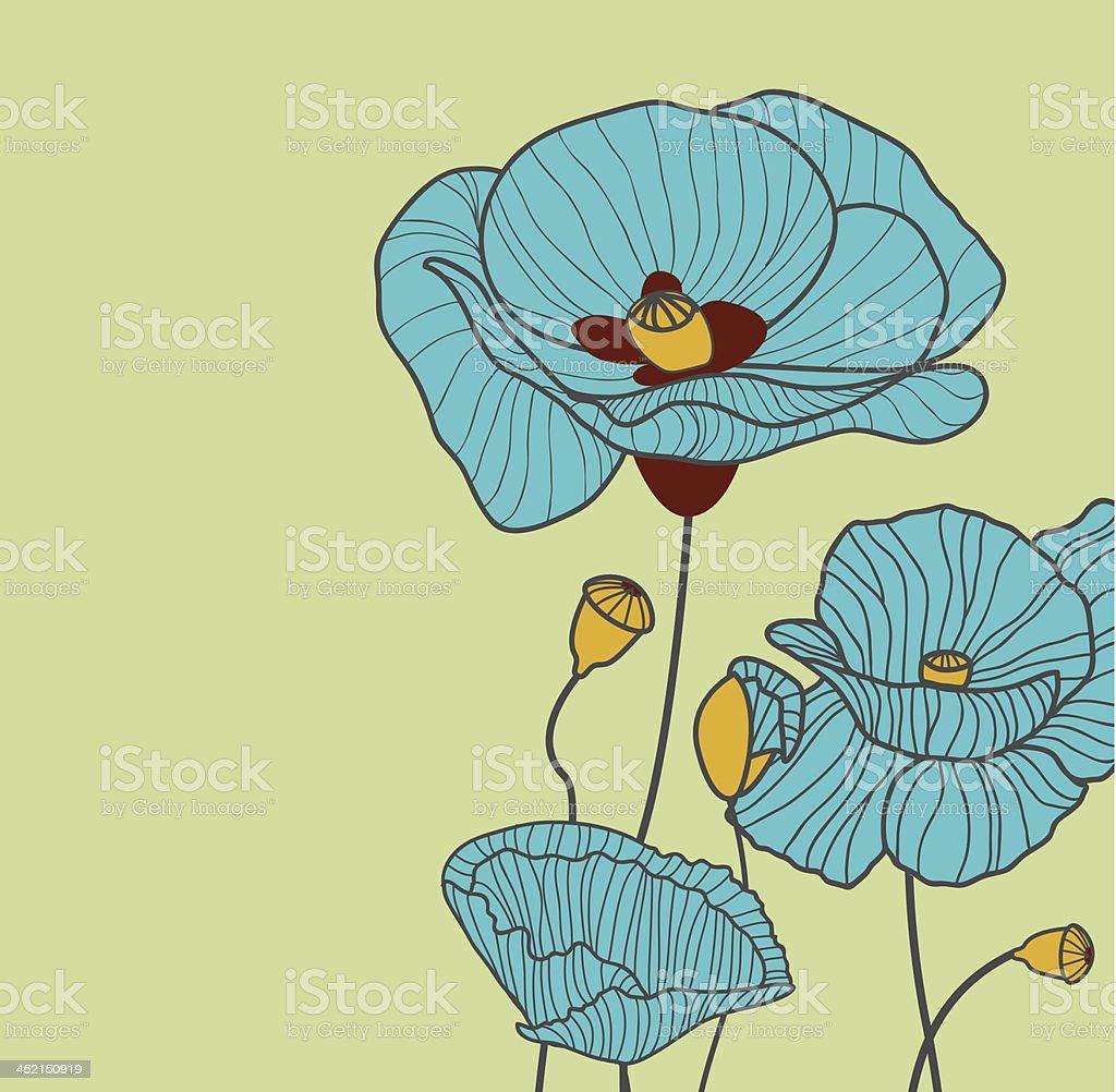Blue flowers royalty-free stock vector art