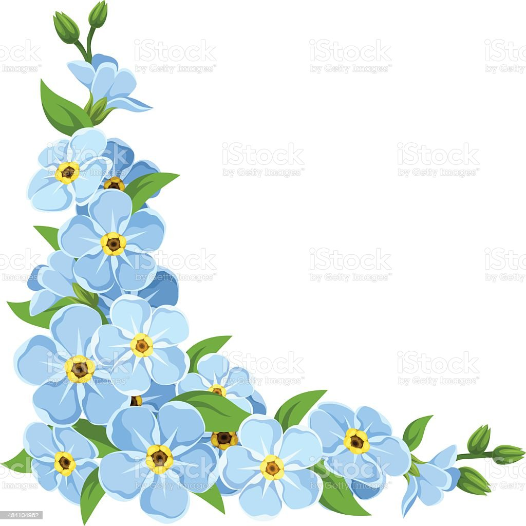 Forget Me Not Clip Art, Vector Images & Illustrations - iStock