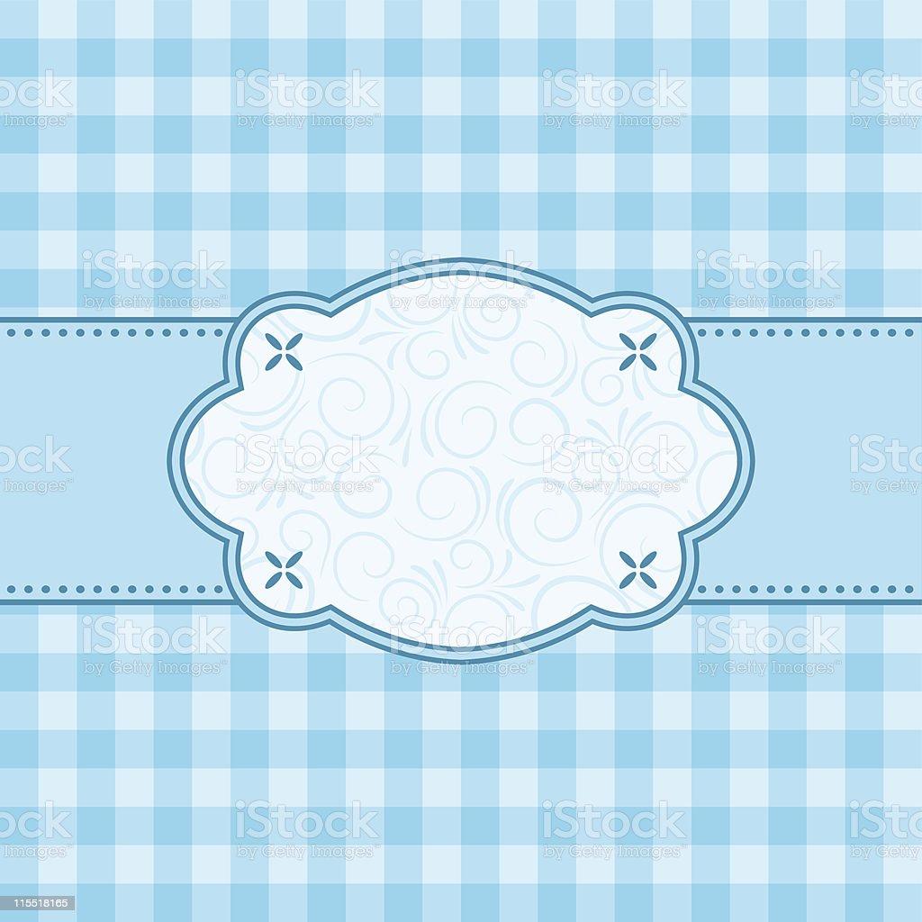 Blue frame. Vector illustration. royalty-free stock vector art