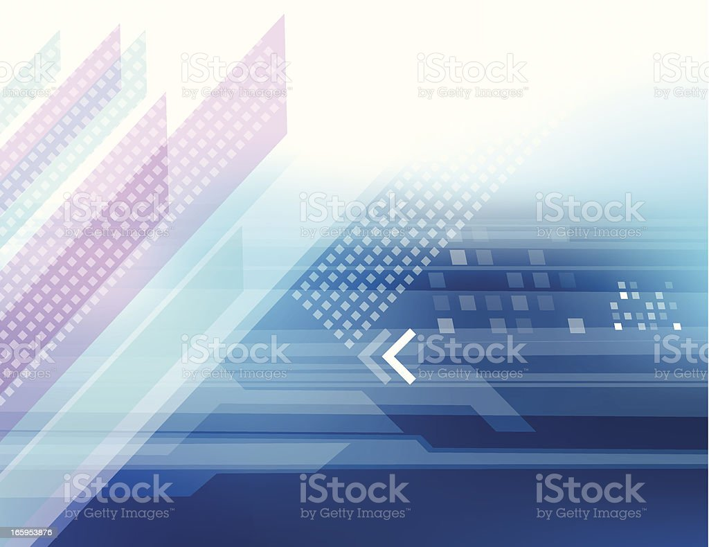 Blue futuristic abstract royalty-free stock vector art
