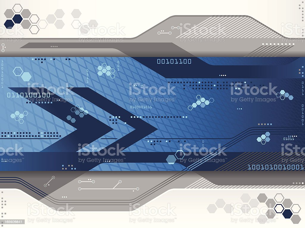 Blue Futuristic Background royalty-free stock vector art