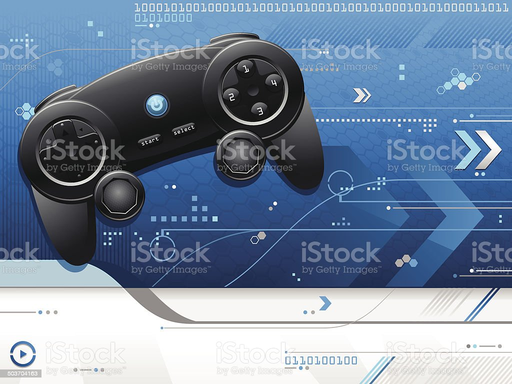 Blue Gaming Background royalty-free stock vector art