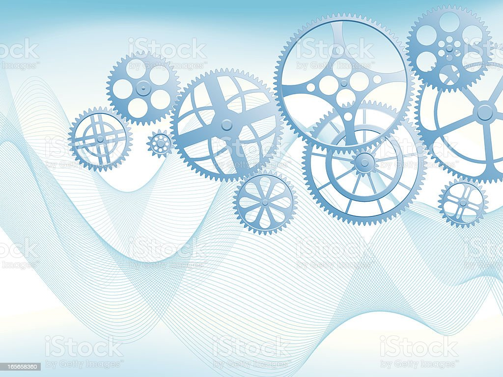 Blue Gears royalty-free stock vector art