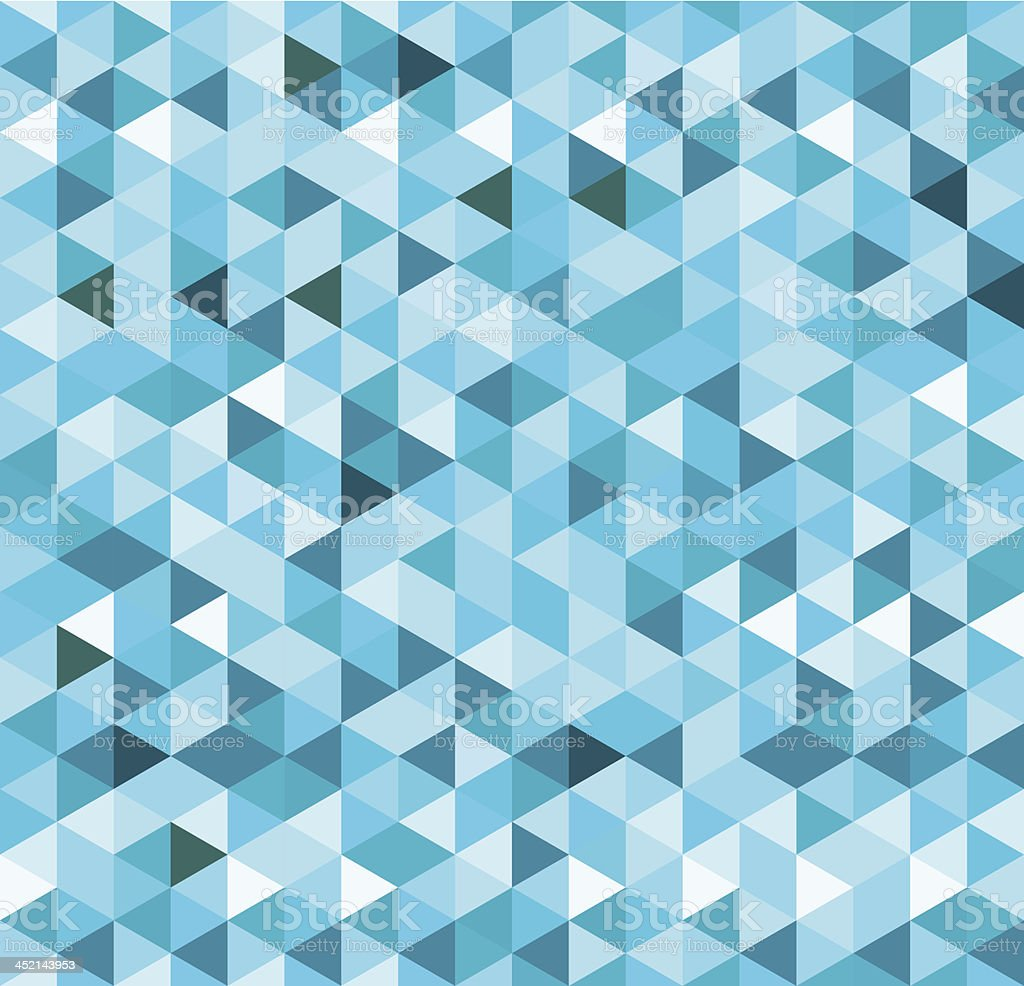 Blue Geometric Background vector art illustration