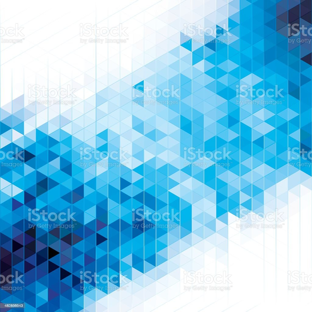 Blue geometric cube abstract background royalty-free stock vector art