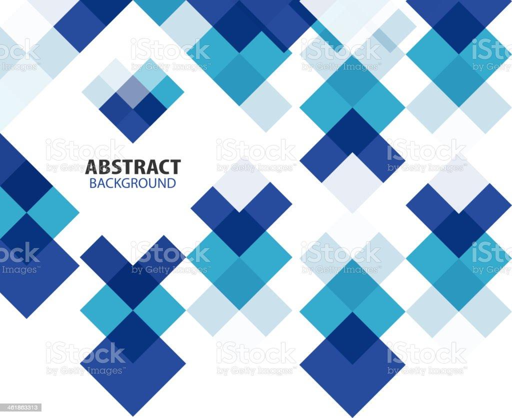 Blue geometrical mosaic background vector art illustration