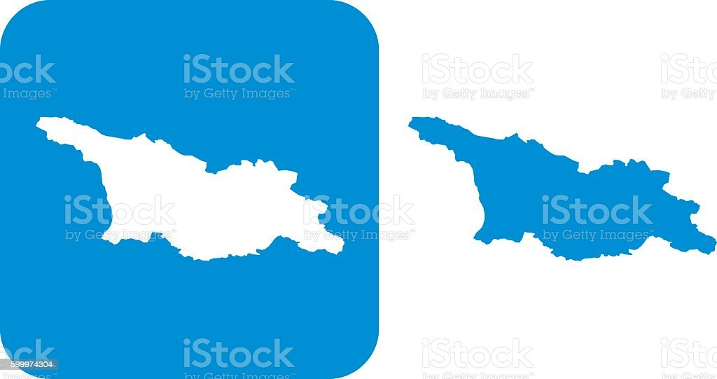 Blue Georgia Icons vector art illustration