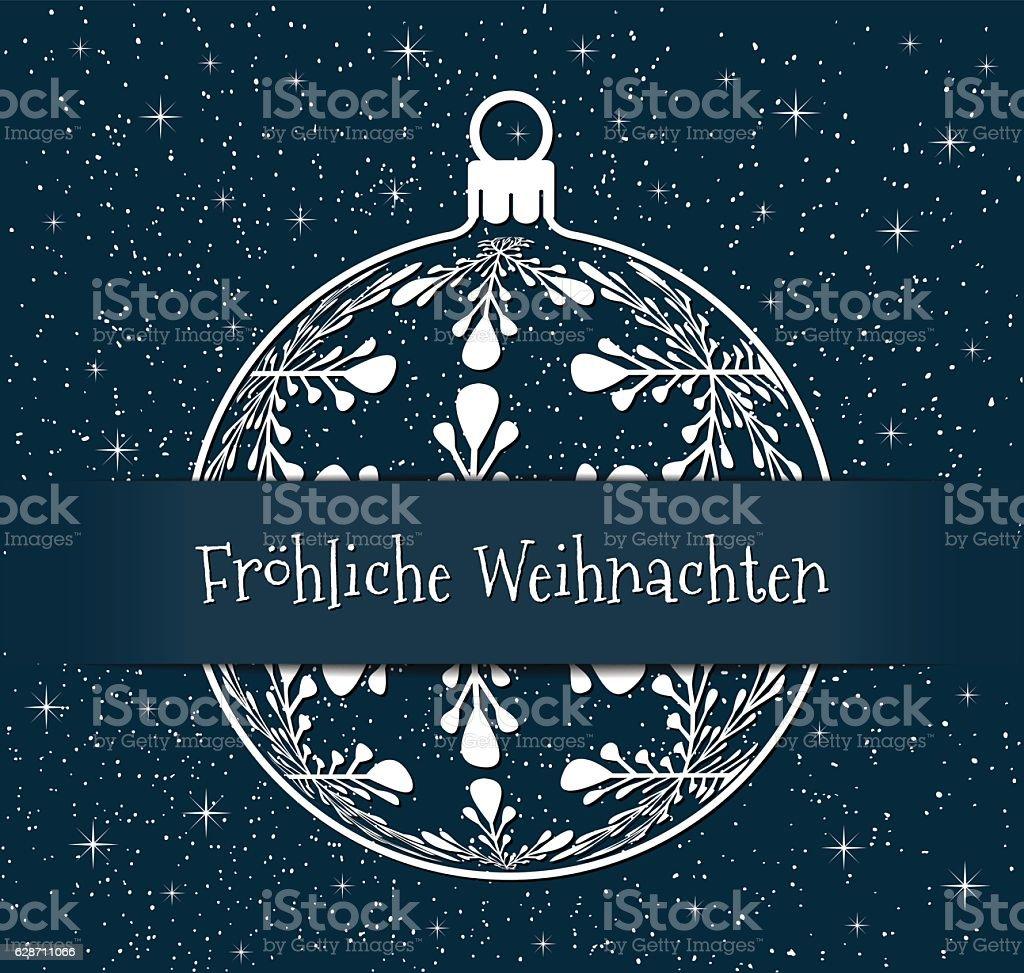 blue german christmas background vector art illustration