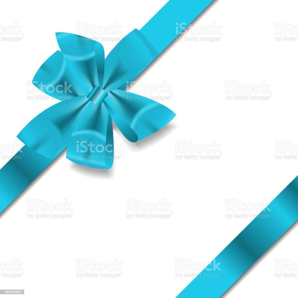 Blue Gift Ribbon. Vector illustration royalty-free stock vector art