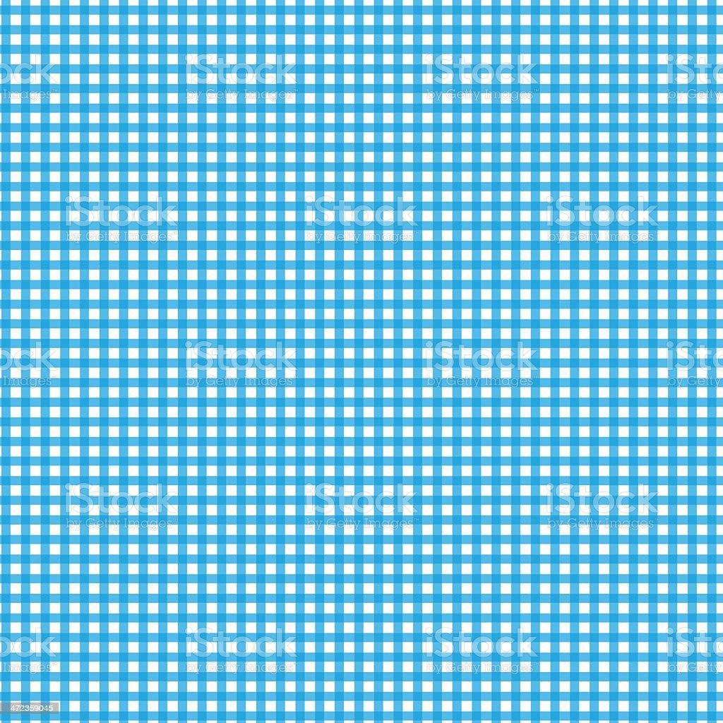 Blue Gingham Checked Fabric vector art illustration