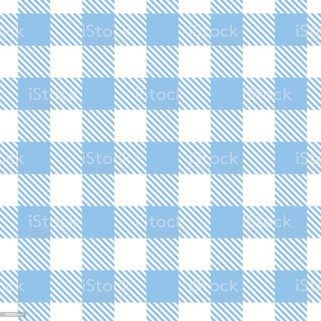 Blue gingham pattern. Vector seamless texture. vector art illustration