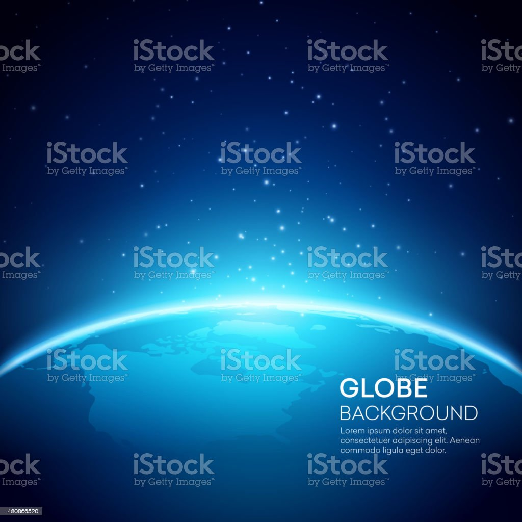 Blue globe earth background. Vector illustration vector art illustration