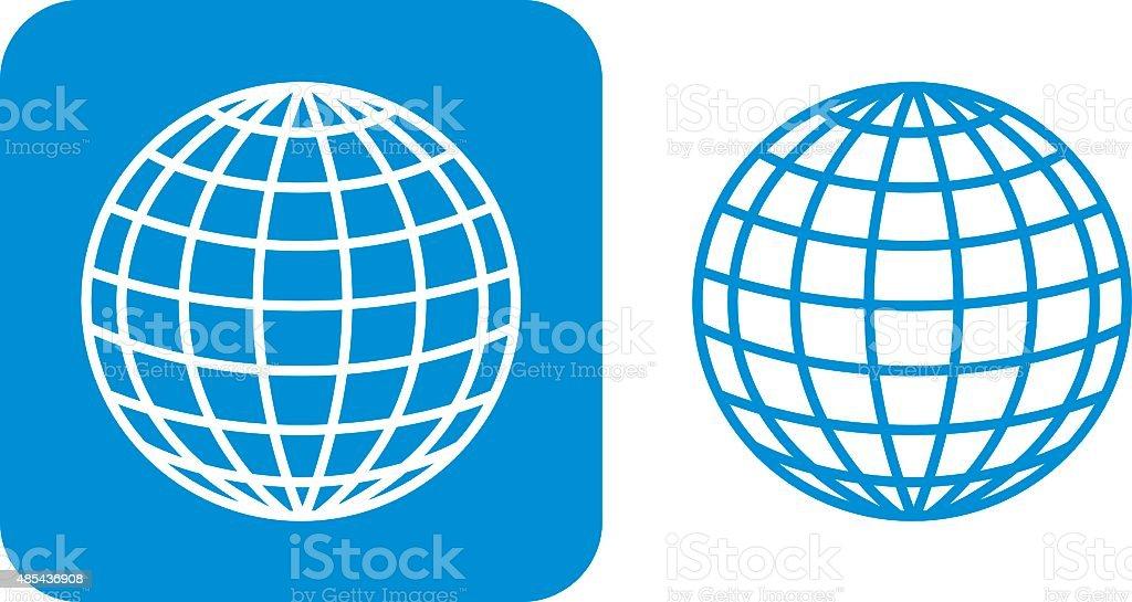 Blue Globe Icons vector art illustration