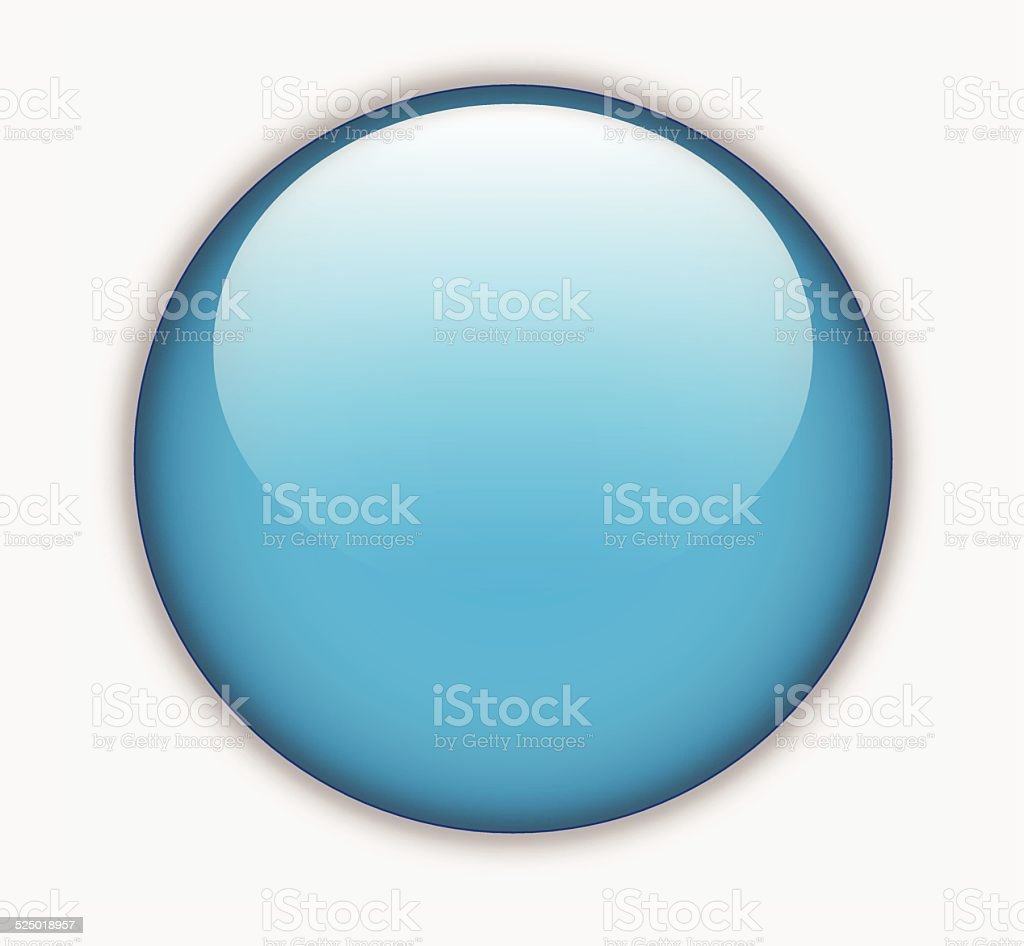 Blue glossy blank round button vector vector art illustration