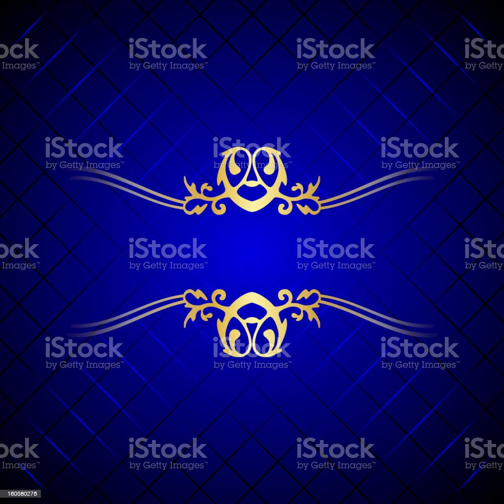 blue & gold background royalty-free stock vector art