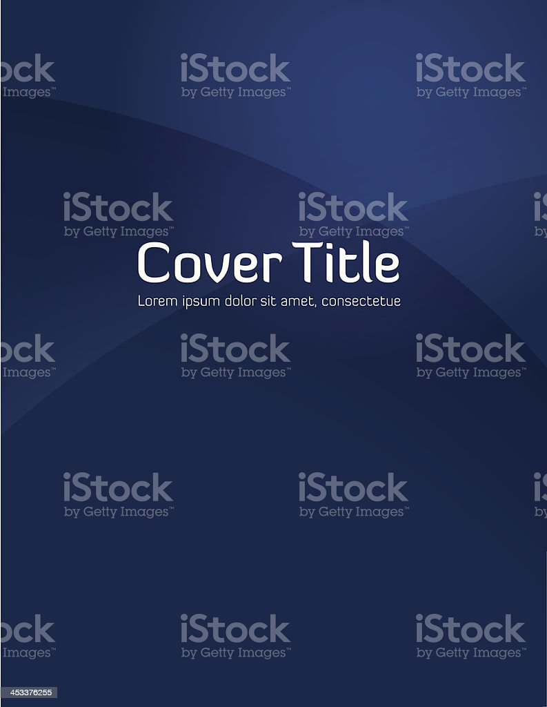 Blue Gradient Cover vector art illustration