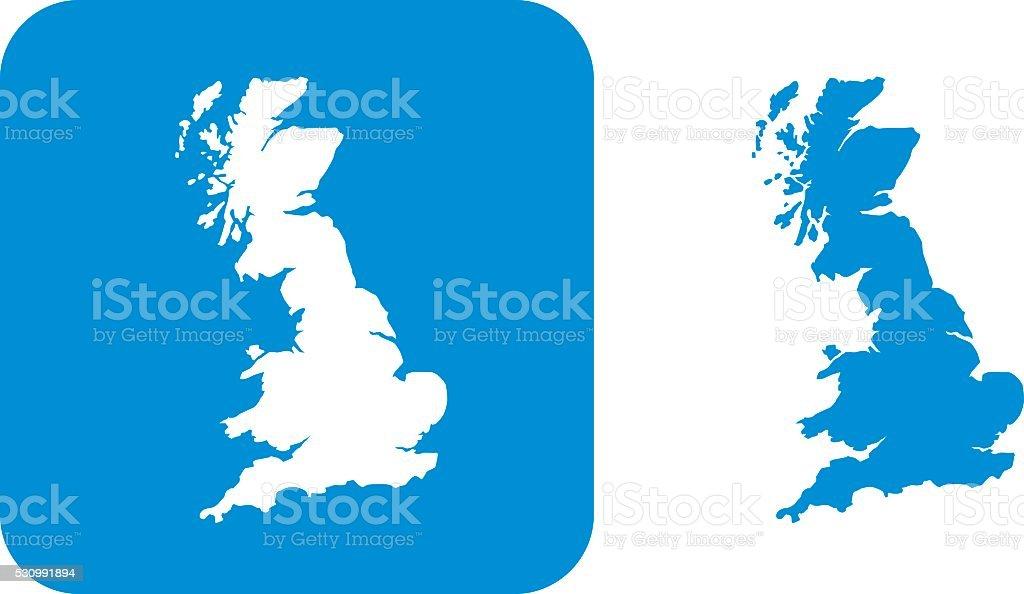 Blue Great Britain Icon vector art illustration