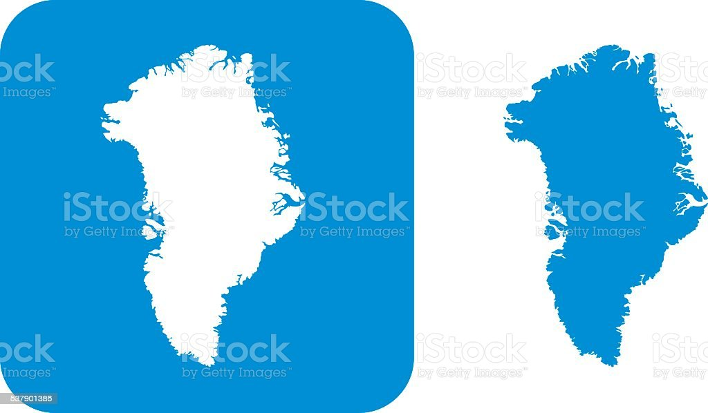 Blue Greenland Icons vector art illustration