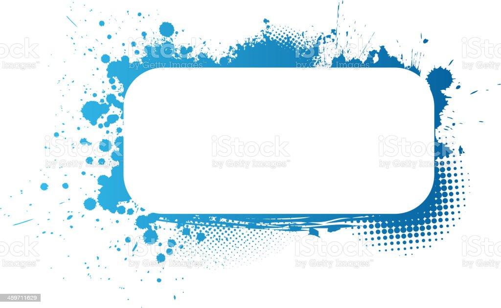 Blue grunge frame royalty-free stock vector art