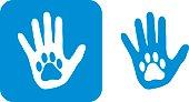 Blue Hand Paw icon