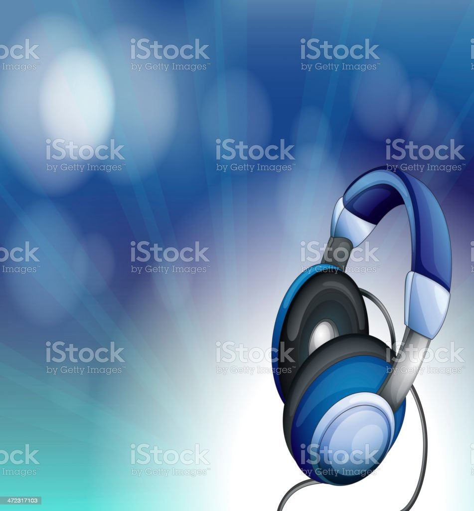Blue headset royalty-free stock vector art
