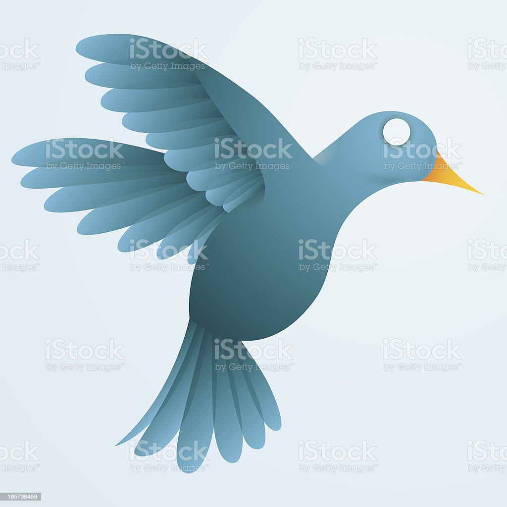 Blue Hummingbird royalty-free stock vector art